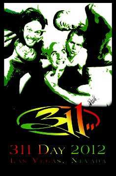 311 Poster, Painting of 311 Band vintage 1995 by SethProductions.com