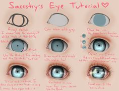 Eye Tutorial by Saccstry.deviantart.com on @deviantART