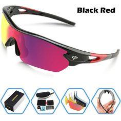 248f4e77251 Space Polarized Unisex Sunglasses UV400 BLACK   RED. Sports SunglassesMen  ...