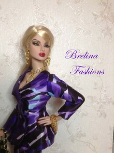 """Purple Passion"" Vintage Barbie Dolls, Barbie And Ken, Doll Face, Fashion Dolls, Baby Dolls, My Design, Aurora Sleeping Beauty, Royalty, Classy"