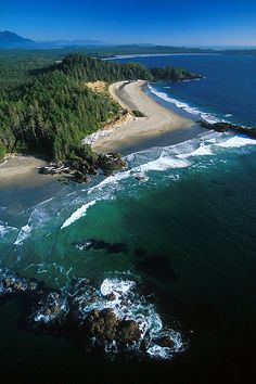 """Ucluelet - on Vancouver Island in BC. Tofino's little brother, but worth it's weight in gold. Ucluete means """"people of the safe harbour"""" in the indigenous Nuu-chah-nulth language Great Places, Places To See, Beautiful Places, Vancouver Island, Western Canada, Belleza Natural, Canada Travel, Aerial View, Paisajes"""