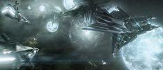 Concept ships by Adam Burn