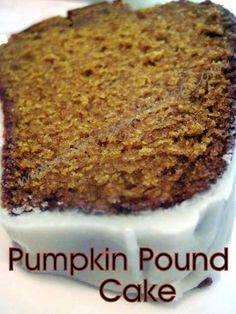 Pumpkin Pound Cake with a Maple Glaze/Moore Or Less Cooking Food Blog