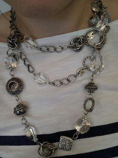 Mialisia VersaStyle Jewelry SEPHIRA & AZIZA paired together as a Layered Necklace http://lifetimewarranty.mialisia.com