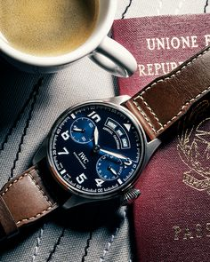 "IWC Big Pilot's Watch Annual Calendar Edition ""Le Petit Prince"". Ref. IW502703 #IWCPilot #IWCBlueDial #IWCWatches"