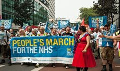 NHS+'People's+March'+campaigners+arrive+in+London+after+300-mile+march