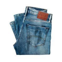 Jeans, Scanton, schmales Bein, Used-Look Rückansicht