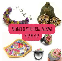 4 polymer clay PDF tutorials in package in price as for 2 of them!