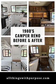 1987 Vintage to Modern Camper Reno Vintage Campers For Sale, Vintage Rv, Vintage Trailers, Vintage Motorhome, Vintage Airstream, Vintage Caravans, Vintage Camper Interior, Rv Interior, Interior Ideas
