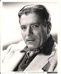 Warner Baxter PR 20th Century Fox Player by Gene Kornman