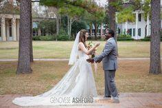 Kira and Chris's First Look || Genovese Ashford Studios || Houston Wedding Photographer