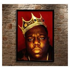 Biggie Smalls, Notorious BIG, Luke Cage, Huge, High Quality, Poster... ❤ liked on Polyvore featuring home, home decor, wall art, photo illustration, horizontal wall art, photo wall art, crown wall art and photo poster
