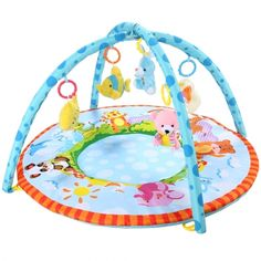 Arshiner Multi-function Baby Blanket Educational Cute Baby Fold Crawl Mat Activity Gym Pad with Toys @ Hushlittlebabysupplies.com