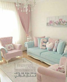 Lovely home decor Living Room Sofa Design, Living Room Decor Cozy, Living Room Color Schemes, Home Room Design, Home Living Room, Living Room Designs, Bedroom Decor, Cottage Living, Living Area