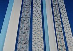 Bastelset Fröbelstreifen Blau-Weiß-Mix
