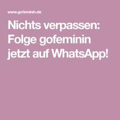 Nichts verpassen: Folge gofeminin jetzt auf WhatsApp!