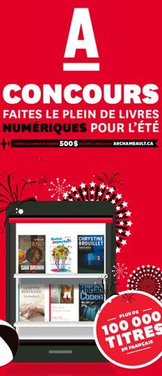 Gagner une carte-cadeau Archambault de 500 $. Fin le 8 aout.  http://rienquedugratuit.ca/concours/carte-cadeau-archambault-2/