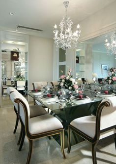 Elegant dining room chairs