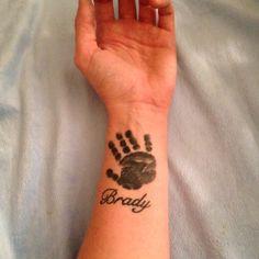 Kids Hand Print Tattoo