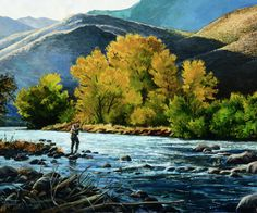 Autumn on the Truckee would make an amazing piece for over a hearth! Gift someone special in your life today this beautiful print!