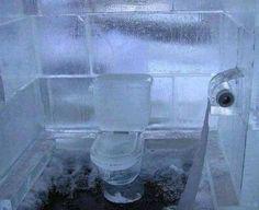 Wc in ghiaccio