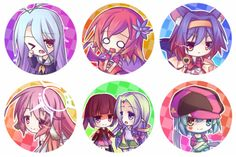 1+1.5+inch+button+of: Shiro,+Steph,+Jibril, Izuna,+Clammy&Feel,+or+Tet+from+NGNL.