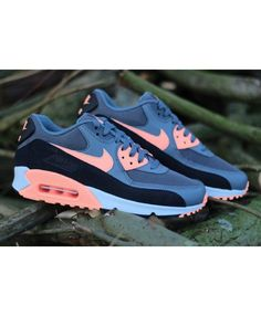 Nike air max 90 essential dark grey sunset glow black trainers promise that  you will be not tired if you wear it!