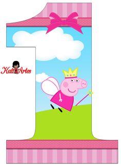 ... Baby Birthday Themes, Twin First Birthday, Pig Birthday, First Birthday Parties, Bolo Da Peppa Pig, Cumple Peppa Pig, Peppa E George, Papa Pig, Cookies