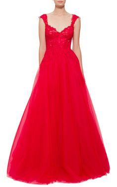Monique Lhuillier V-Neck Ball Gown - Preorder now on Moda Operandi