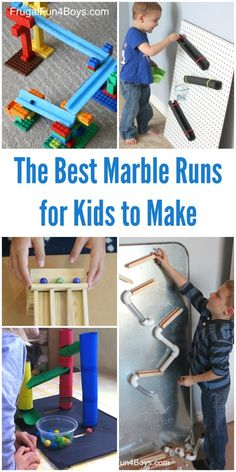 The BEST Marble Runs for Kids to Make! Fun ideas using materials from around the house. Recommendations on toy marble runs too.