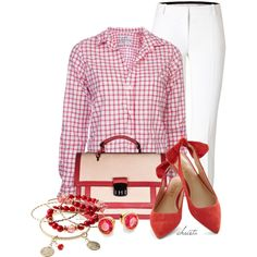 """Red and Pink"" by christa72 on Polyvore"