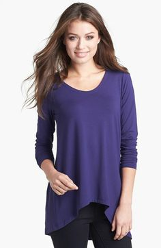 Eileen Fisher V-Neck Stretch Knit Top-Made in the USA
