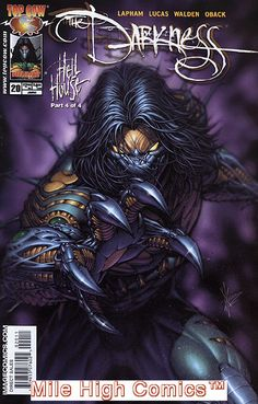 DARKNESS (Series Began (IMAGE TOP COW) Issue comics in Near Mint condition. Published by Image Top Cow. Comic Book Artists, Comic Book Characters, Comic Book Heroes, Comic Character, Comic Books Art, Marvel Comics, Dc Comics Superheroes, Fun Comics, Michael Turner