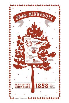 MINNESOTA STATE KITCHEN TEA TOWEL