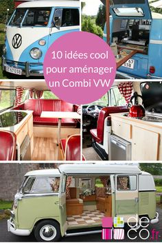 10 façons cool d'aménager un combi VW - Mary Viaud - Vw Camper Bus, Camper Trailers, Volkswagen, Combi Vw T2, Europa Tour, Minibus, Vw Camping, Camping Hacks, Motorhome Conversions