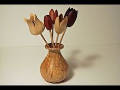 Wood Turning Projects Turning A Flower - YouTube