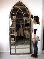 【アンティーク調・大型鏡】PEACE MIRROR(ピースミラー)Lサイズ【KE】   ミラー・鏡,置き鏡     ブームスオンラインショップ