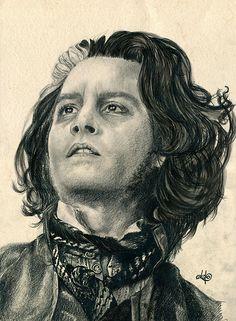 Sweeney Todd Drawing - Sweeney Todd Fine Art Print - Bianca Ferrando