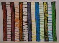 En esta ocasión queríamos practicar líneas horizontales y para ello utilizamos una plantilla con barras negras. Para comenzar cada barra la...