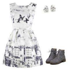 White and gray are good for any day by rainy-days-everyday on Polyvore