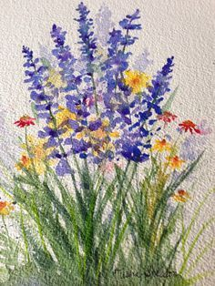 watercolor painting ideas for beginners - Google Search                                                                                                                                                                                 Mais