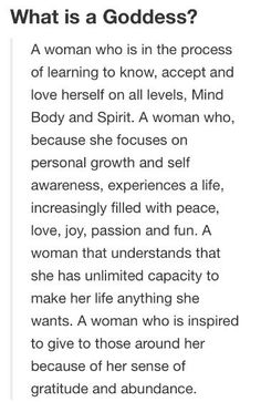 A woman who is in the process of learning to know, accept and love herself on all levels, Mind, Body and Spirit: