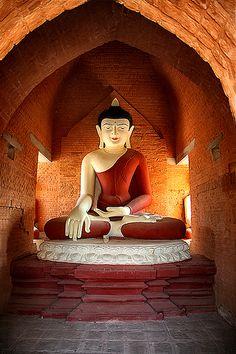 Buddha in Bagan, Myanmar (Burma) by YYZDez, via Flickr