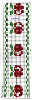 Anaide Ponto Cruz: Espero que gostem desses gráficos em barrado em ponto cruz!!! Cross Stitch Kitchen, Simple Cross Stitch, Cross Stitch Pattern Maker, Cross Stitch Patterns, Filet Crochet, Crochet Motif, Tapestry Crochet Patterns, Loom Beading, Knitting Designs