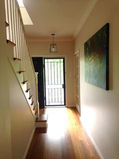 New Front Entry Hall After Renovation Have Sat With It For 12 Months