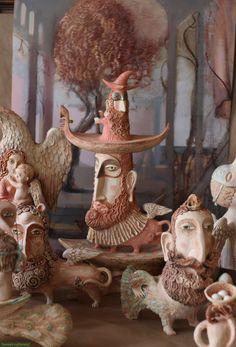 Керамические статуэтки Эли Ялонецки