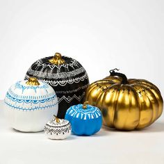 Do you love to doodle? Then you'll love these bright and bold scribble pumpkin designs. Brighten your fall decor by painting your pumpkins with a fun, unique pattern. Add lines, dots, swirls, and more to give your harvest pumpkins a twist.