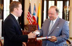 Bernier recibe a embajador de Colombia en Estados Unidos