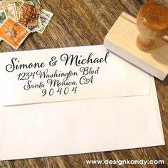 Calligraphy Address Stamp — designkandy