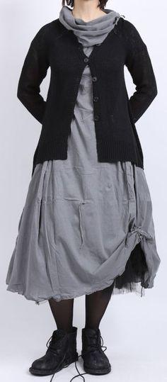 rundholz - Shirtkleid mit großem Kragen smoked grey - Sommer 2016 - stilecht - mode für frauen mit format...